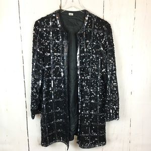 Jackets & Blazers - Vintage Long Sequin & Beaded Jacket
